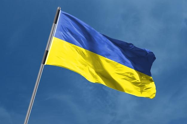 Oekraïne vlag zwaaien
