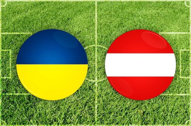 Oekraïne vs oostenrijk voetbalwedstrijd