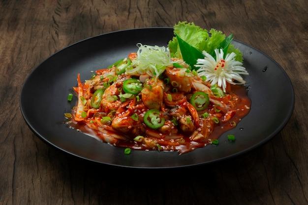 Oesters freash salade gulmuchim doorgewinterde koreaanse food style gerecht