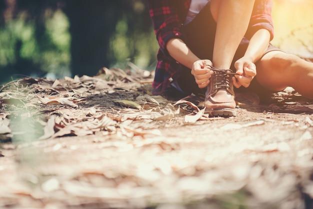 Off vakantie outdoor voetpad activiteit