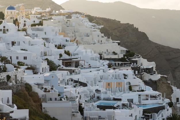Oia dorp op santorini eiland, griekenland