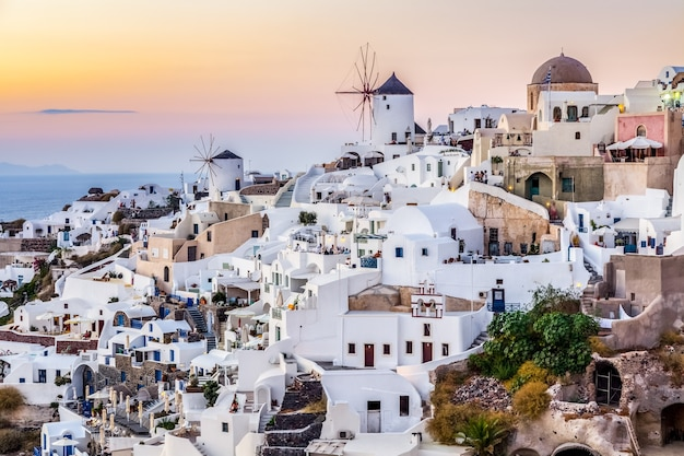 Oia dorp, santotini eiland, griekenland
