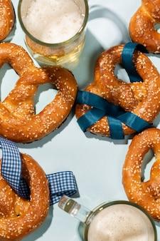 Oktoberfest assortiment met heerlijke pretzel