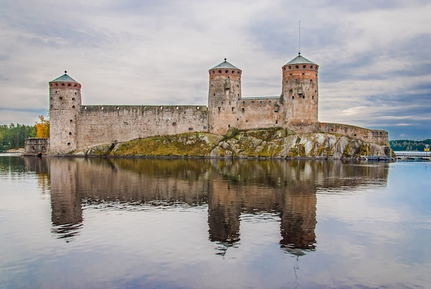 Olavinlinna kasteel in savonlinna, finland
