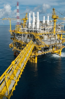 Olie- en gasplatform of bouwplatform