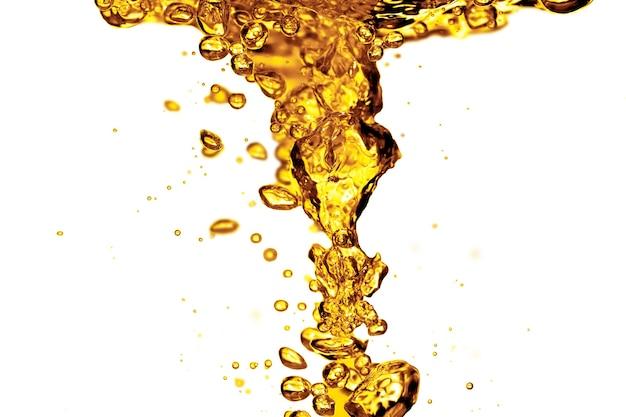 Olieplons op een witte achtergrond