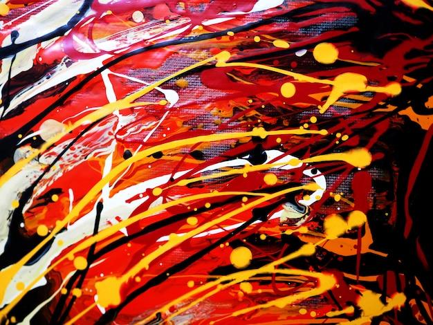 Olieverf kleurrijke borstel beroerte splash drop zoete kleuren abstracte achtergrond en textuur.