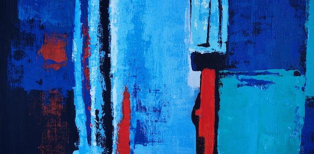 Olieverf schilderij op canvas abstract met textuur panorama.