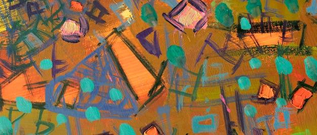Olieverfsamenvatting close-up van het schilderij kleurrijke abstracte schilderachtergrond