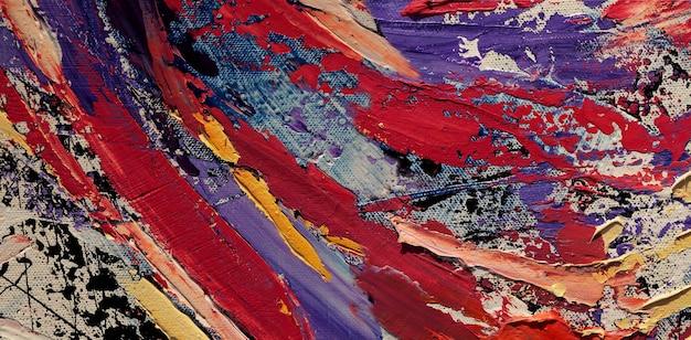 Olieverfschilderij op canvas abstracte achtergrond met textuur.