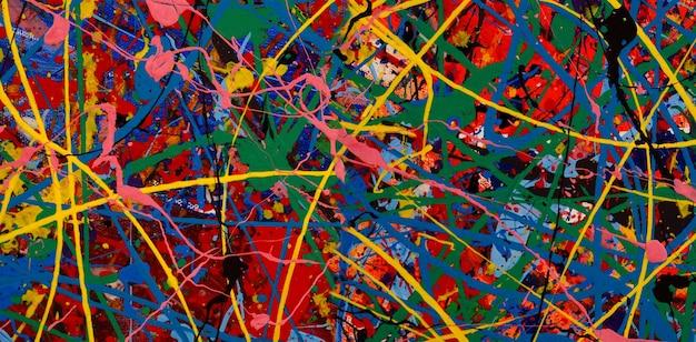 Olieverfschilderij op canvas abstracte achtergrond.