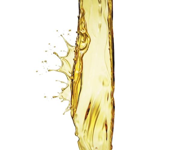 Olijf of motorolie splash geïsoleerd