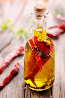 Olijfolie met chilipeper