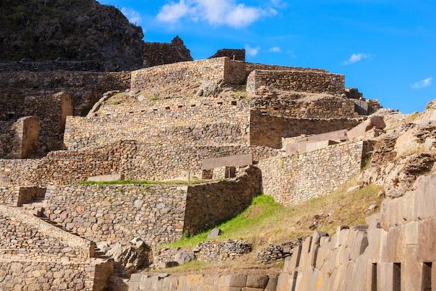 Ollantaytambo-ruïnes in peru