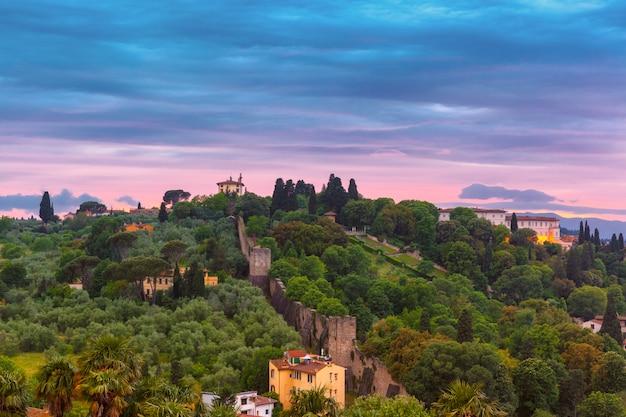 Oltrarno en fort belvedere in florence, italië