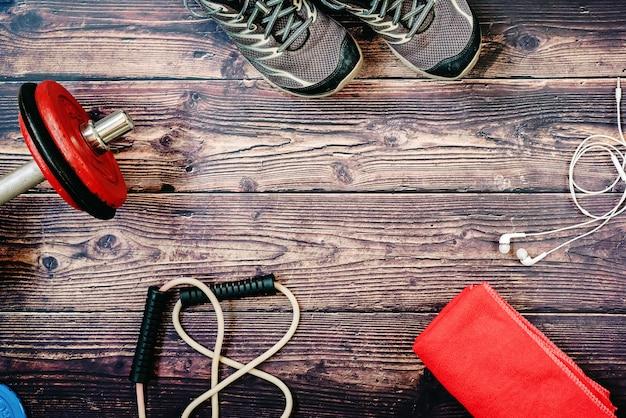 Om af te vallen is sporten en sporten belangrijk, u moet accessoires zoals die van deze sportachtergrond gebruiken.