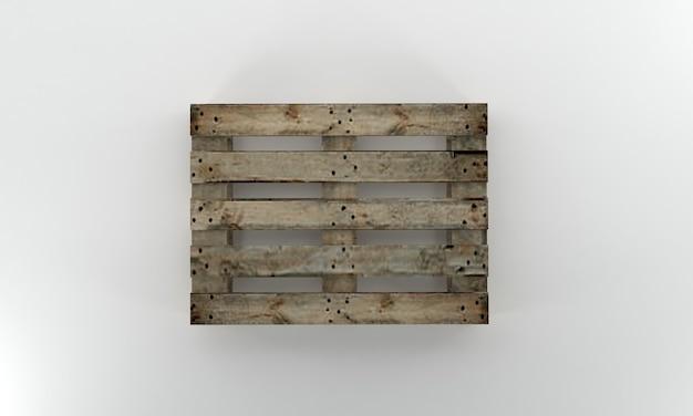 Om houten pallet 3d render te bekijken