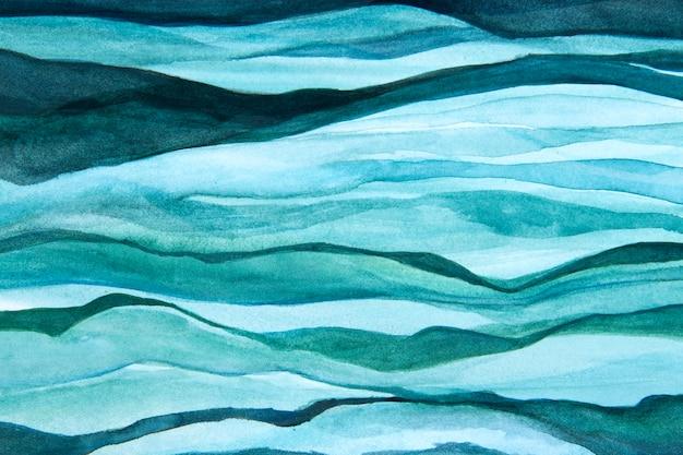 Ombre golven aquarel achtergrond abstracte stijl