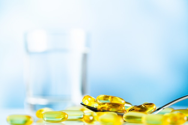 Omega 3 visolie gele zachte gelcapsules