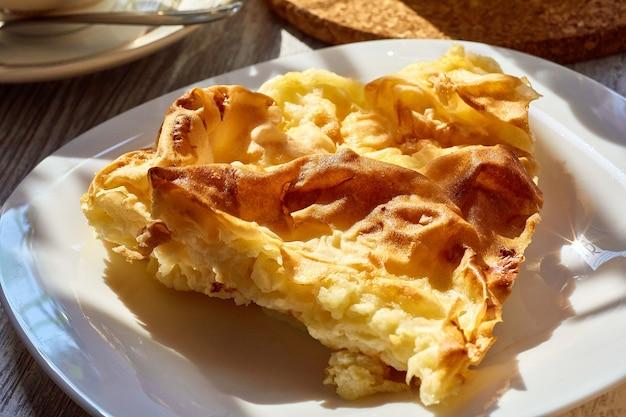 Omelet in een plaat close-up