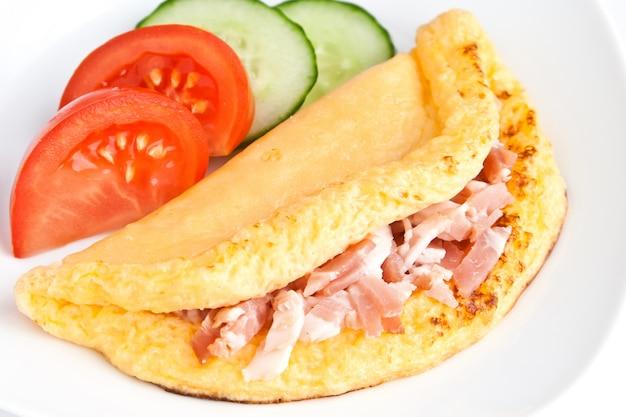 Omelet met ham