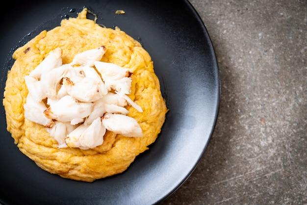 Omelet met krabvlees