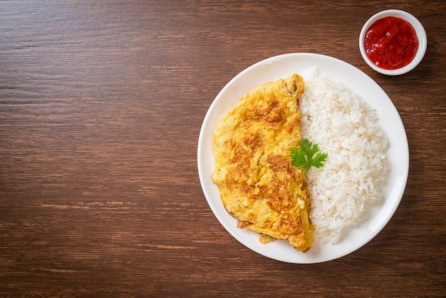 Omelet of omelet met rijst