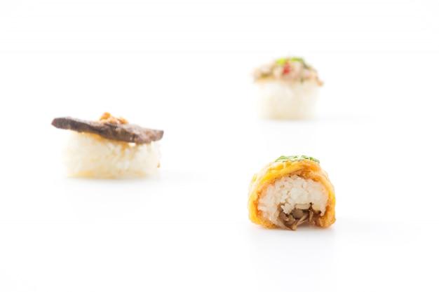 Omelet sushi roll