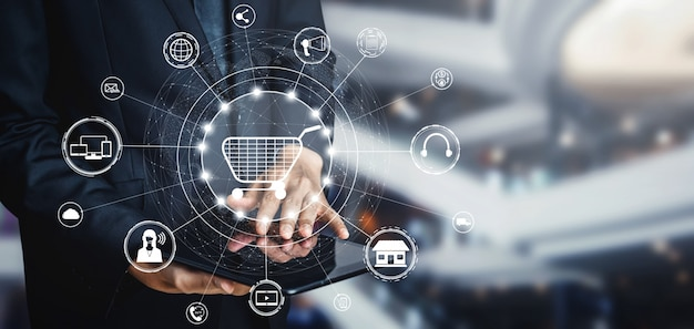 Omni channel-technologie van online detailhandel.