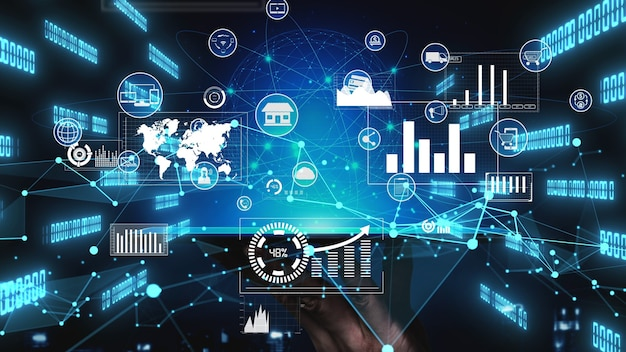 Omni channel technologie van online retail business conceptueel