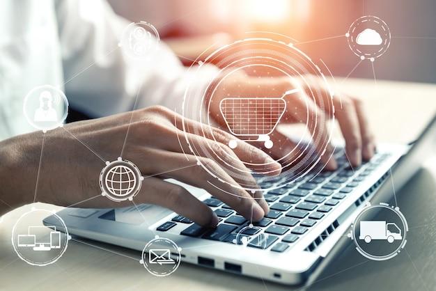 Omnichannel-technologie van online detailhandel.
