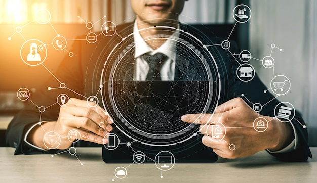 Omnichanneltechnologie van online detailhandel.