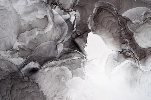 Onderdeel van het originele alcoholinkt schilderij, abstracte achtergrond