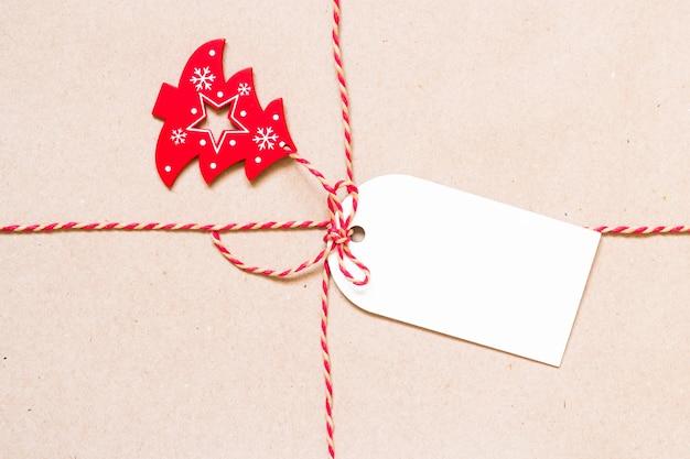 Onderdeel van kerstcadeau en tag