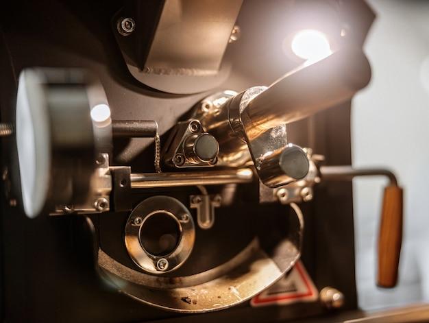 Onderdelen van professionele apparatuur voor het branden van koffiebonen