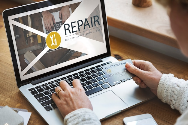 Onderhoud reparatie oplossing service restauratie concept