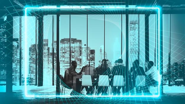 Ondernemers hebben een vergadering in een kamer