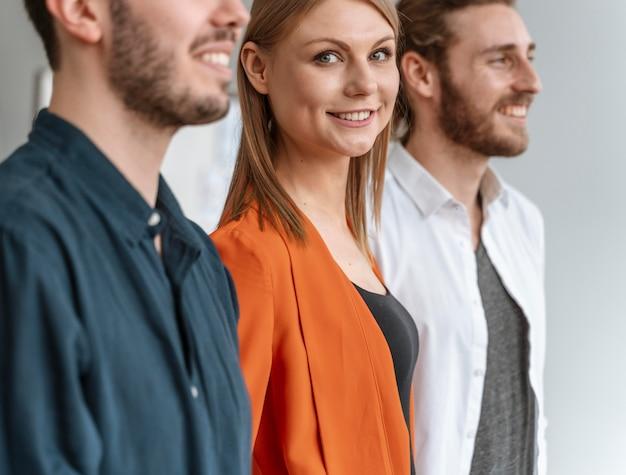 Ondernemers op kantoorvergadering