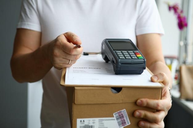 Onderteken een leveringscontractconcept
