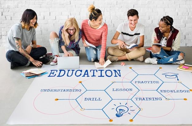 Onderwijs academie certificering curriculum icoon