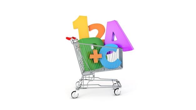 Onderwijs winkelen 3d-rendering
