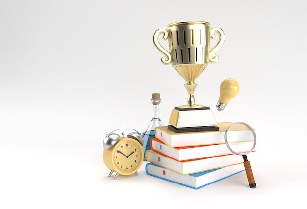 Onderwijsachtergrond met trofee