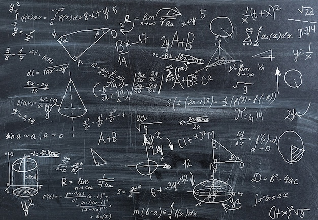 Ondoordringbare wiskunde. gekke wiskundige formules