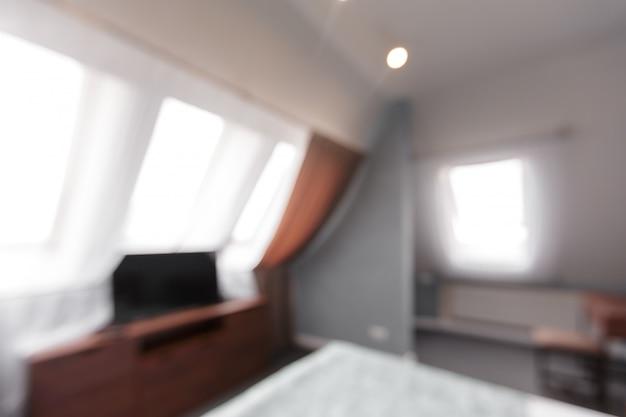 Onduidelijk beeldbeeld van moderne ruimte thuis
