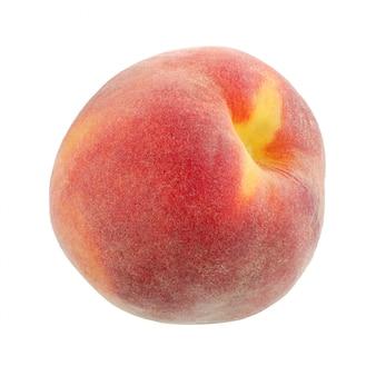 One peaches, geïsoleerd.