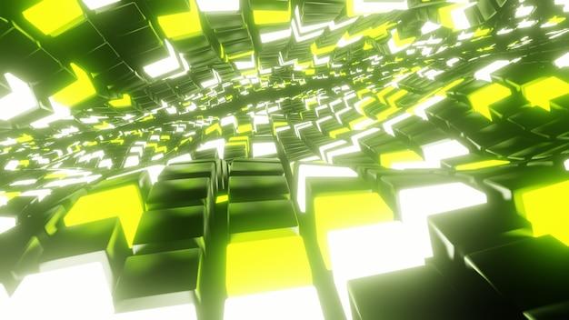 Oneindige abstracte geometrische vormen achtergrond en behang