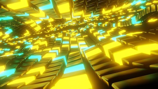 Oneindige abstracte kubus vormt achtergrond en behang