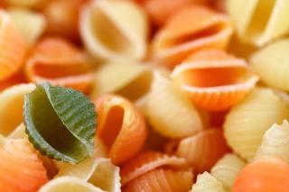 Oneven pasta uit conchiglie
