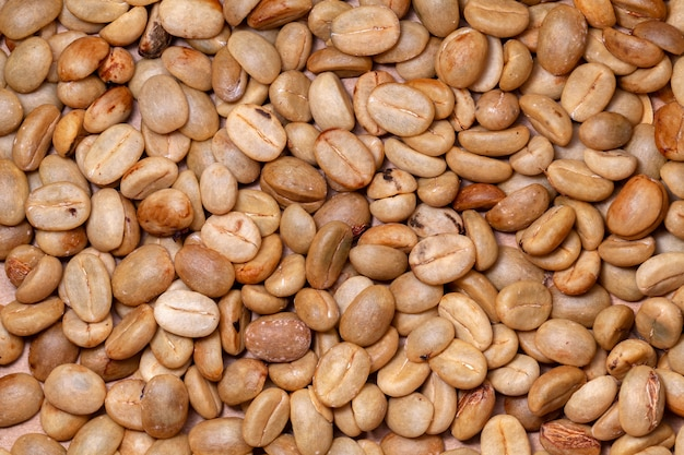 Ongebrande biologische koffiebonen - coffeea arabica