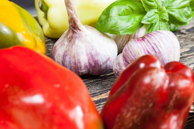 Ongewassen vuile groenten